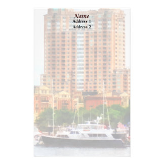 MD - Boats at Inner Harbor Wedding Products Stationery
