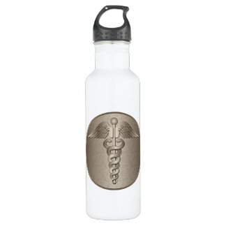 MD Caduceus Stainless Steel Water Bottle