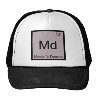 Md - Camiseta del símbolo del elemento de la quími Gorro De Camionero