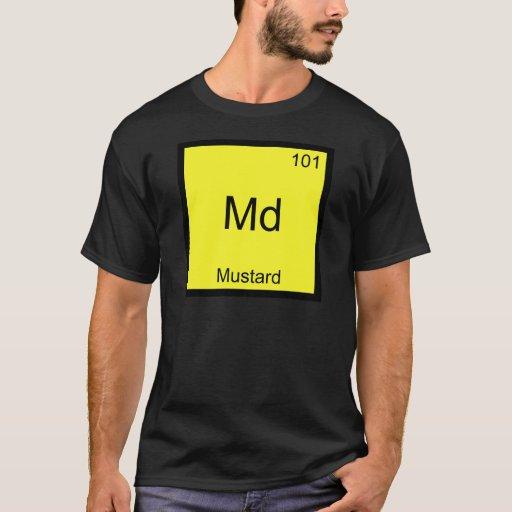 Md - Camiseta divertida del símbolo del elemento