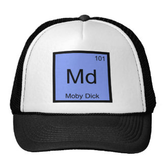 Md - Camiseta divertida del símbolo del elemento d Gorros