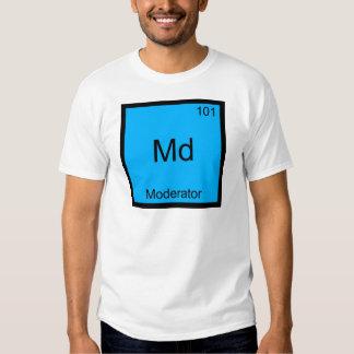 Md - Camiseta divertida del símbolo del elemento Playeras
