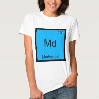 Md - Camiseta divertida del símbolo del elemento Polera