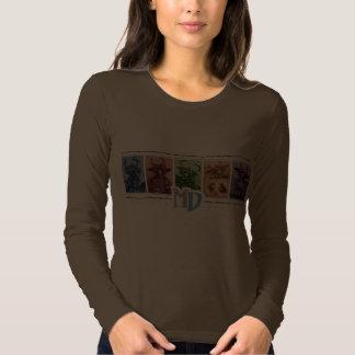 MD Colored Bar Logo AA Long Sleeve T, Brown T-Shirt