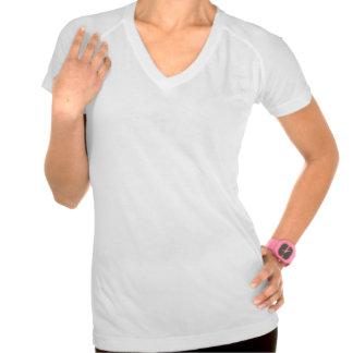 MD Colored Bar Logo Sport-Tek Perf. V-Neck, White T-shirt