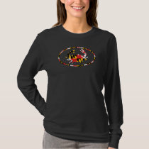 MD CRAB-FLAG OVAL T-Shirt
