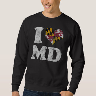 MD de la bandera de Maryland del corazón I Jersey
