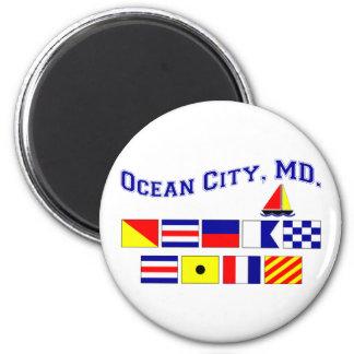 MD de la ciudad del océano Imán Redondo 5 Cm