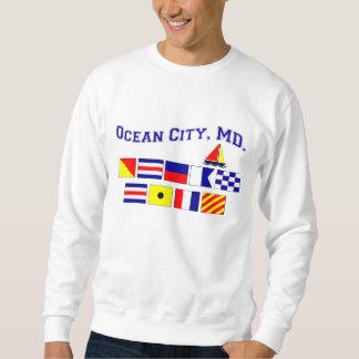 MD de la ciudad del océano Sudadera Con Capucha