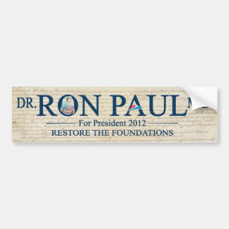 MD del Dr. Ron Paul para Prresident 2012 Pegatina Para Auto