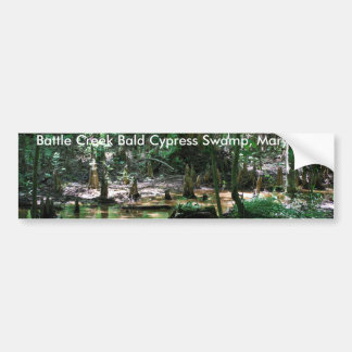 MD del pantano de Battle Creek Cypress calvo, pega Pegatina De Parachoque