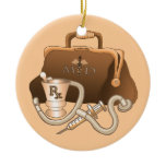 MD Doctor bag Ceramic Ornament
