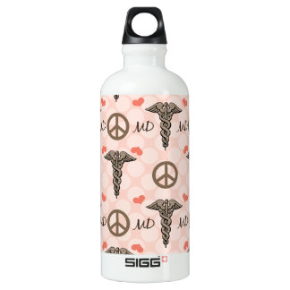 MD Doctor Physician Caduceus BPA Free Water Bottle