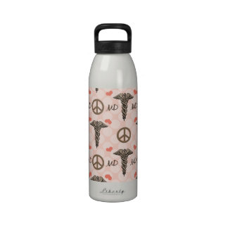 MD Doctor Physician Caduceus Water Bottle BPA Free
