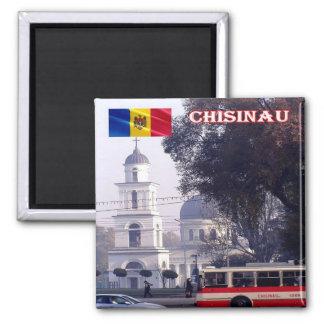 MD - El Moldavia - Chisinau - centro de ciudad Imán Cuadrado