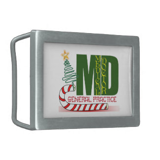 MD GENERAL PRACTICE PHYSICIAN CHRISTMAS MERRY BELT BUCKLE