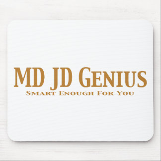 MD JD Genius Gifts Mouse Pad