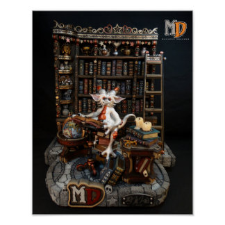 "MD Library Dragon 11"" x 14"" Mini Poster"