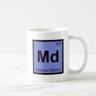 Md - Marina District San Francisco Chemistry City Coffee Mug