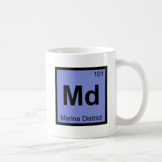Md - Marina District San Francisco Chemistry City Coffee Mugs
