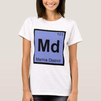 Md - Marina District San Francisco Chemistry City T-Shirt