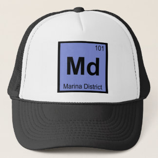 Md - Marina District San Francisco Chemistry City Trucker Hat