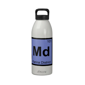Md - Marina District San Francisco Chemistry City Reusable Water Bottle