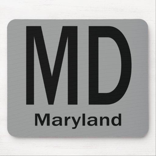 MD Maryland plain black Mouse Pad