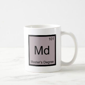 Md - Master's Degree Chemistry Element Symbol Tee Coffee Mug