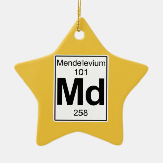Md - Mendelevium Ceramic Ornament