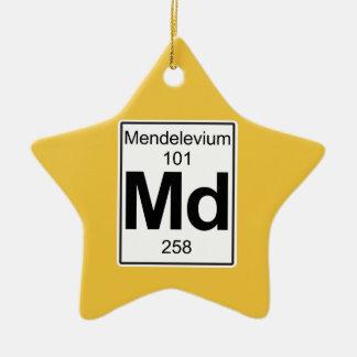 Md - Mendelevium Ceramic Ornament