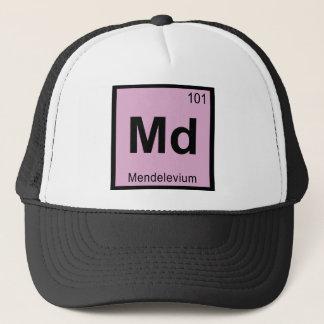 Md - Mendelevium Chemistry Periodic Table Symbol Trucker Hat