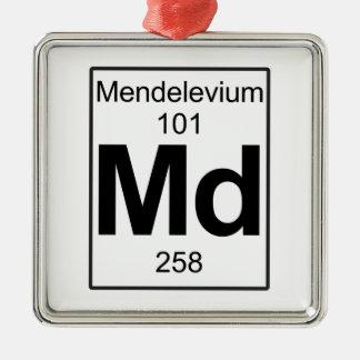 Md - Mendelevium Metal Ornament