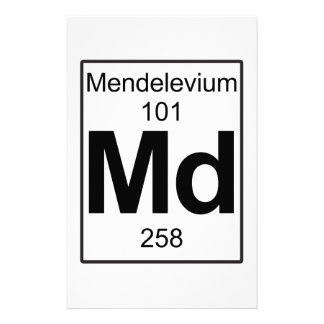 Md - Mendelevium Stationery