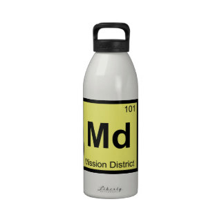 Md - Mission District San Francisco Chemistry Reusable Water Bottle
