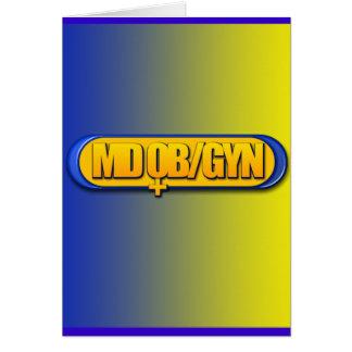 MD OB/GYN LOGO OVAL OBSTETRICS GYNECOLOGY CARD