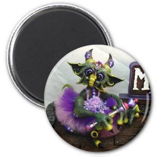 MD Princess Alina Dragon Magnet, Round Magnet