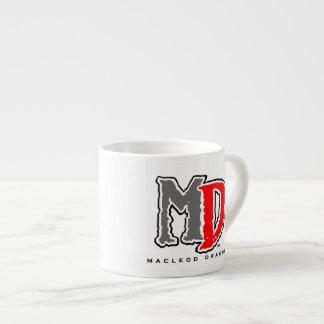 MD Red Logo Expresso Mug 6 Oz Ceramic Espresso Cup