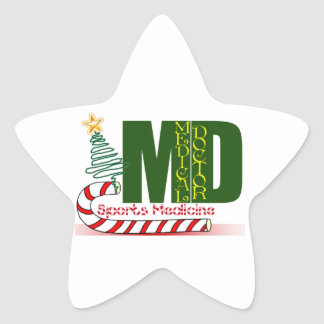 MD SPORTS MEDICINE CHRISTMAS MEDICAL DOCTOR STAR STICKER