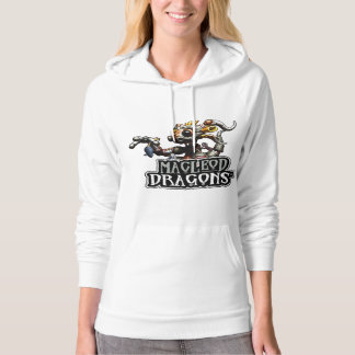 MD Steampunk Dragon Pullover Hoodie, White