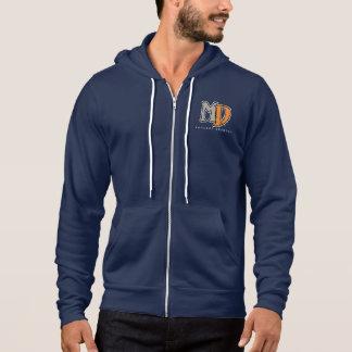 MD Steampunk Dragon Zip Hoodie, Navy Blue Hoodie
