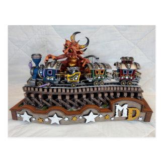 MD Toy Train Dragon Postcard