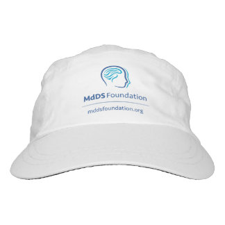MdDS Awareness Woven Performance Hat, White Headsweats Hat