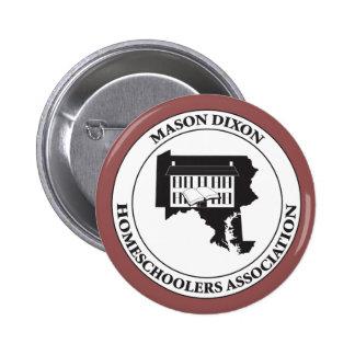 MDHSA - Logotipo de Dixon Homeschoolers Assc del Pin Redondo De 2 Pulgadas