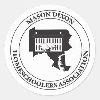 MDHSA - Mason Dixon Homeschoolers Assc Logo Classic Round Sticker