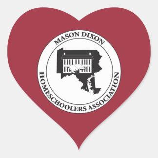 MDHSA - Mason Dixon Homeschoolers Assc Logo Heart Sticker