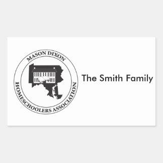 MDHSA - Mason Dixon Homeschoolers Assc Logo Rectangular Sticker