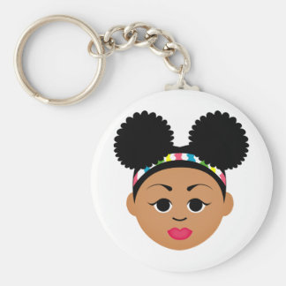 MDillon Designs I'm Proud to Be Natural Me Basic Round Button Keychain