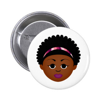 MDillon Designs Proud to Be Natural (Afro) 2 Inch Round Button