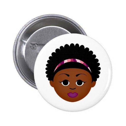 MDillon diseña orgulloso ser natural (el Afro) Pin Redondo 5 Cm
